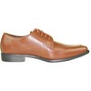 ALLURE MEN Dress Shoe AL01 Oxford Formal Tuxedo for Prom & Wedding Brown - Wide Width Available