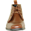 ALLURE MEN Boy AL02KID Dress Boot Formal Tuxedo for Prom & Wedding Brown