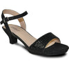 VANGELO Women Sandal ANGEL-10 Heel Party Prom & Wedding Sandal Black