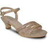 VANGELO Women Sandal ANGEL-11 Heel Party Prom & Wedding Sandal Champagne