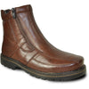 BRAVO Men Boot DEAN-12 Casual Winter Fur Boot Brown