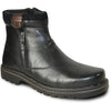 BRAVO Men Boot DEAN-14 Casual Winter Fur Boot - Water Proof Black