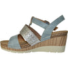 VANGELO Women Sandal FAITH Wedge Sandal Blue