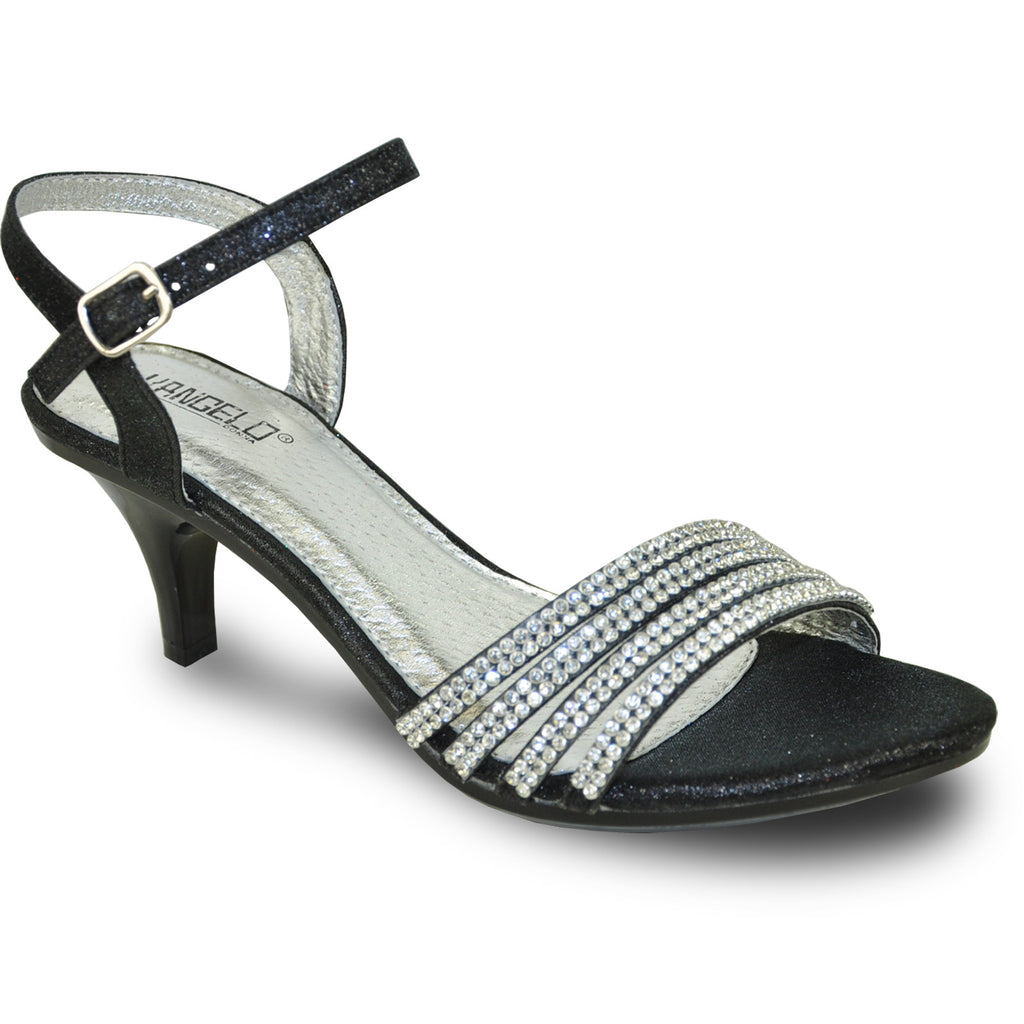 VANGELO Women Sandal FERNE-1 Heel Party Prom & Wedding Sandal Black
