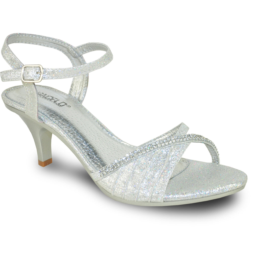 VANGELO Women Sandal FERNE-2 Heel Party Prom & Wedding Sandal Silver