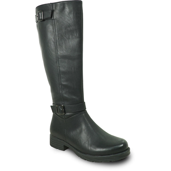 VANGELO Waterproof Women Boot HF0592 Knee High Casual Boot Black