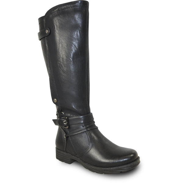 VANGELO Waterproof Women Boot HF0603 Knee High Casual Boot Black