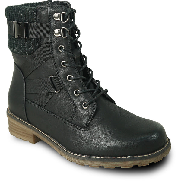 VANGELO Waterproof Women Boot HF0615 Ankle Casual Boot Black