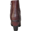 VANGELO Women Boot HF8400 Ankle Dress Boot Bordo Red
