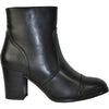 VANGELO Women Boot HF8402 Ankle Dress Boot Black