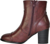 VANGELO Women Boot HF8402 Ankle Dress Boot Bordo Red