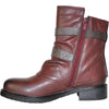 VANGELO Women Boot HF8406 Ankle Casual Boot Bordo Red