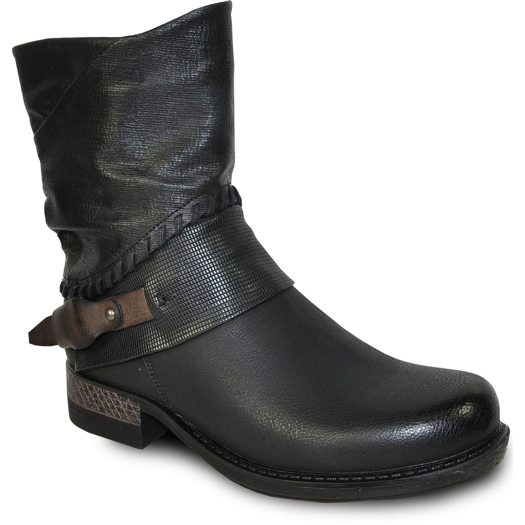 VANGELO Women Boot HF8407 Ankle Casual Boot Black