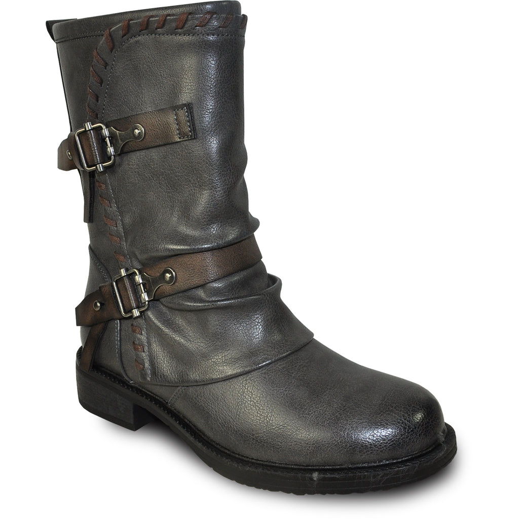 VANGELO Women Boot HF8408 Ankle Casual Boot Grey