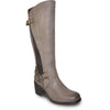 VANGELO Women Boot HF8412 Knee High Dress Boot Stone Grey