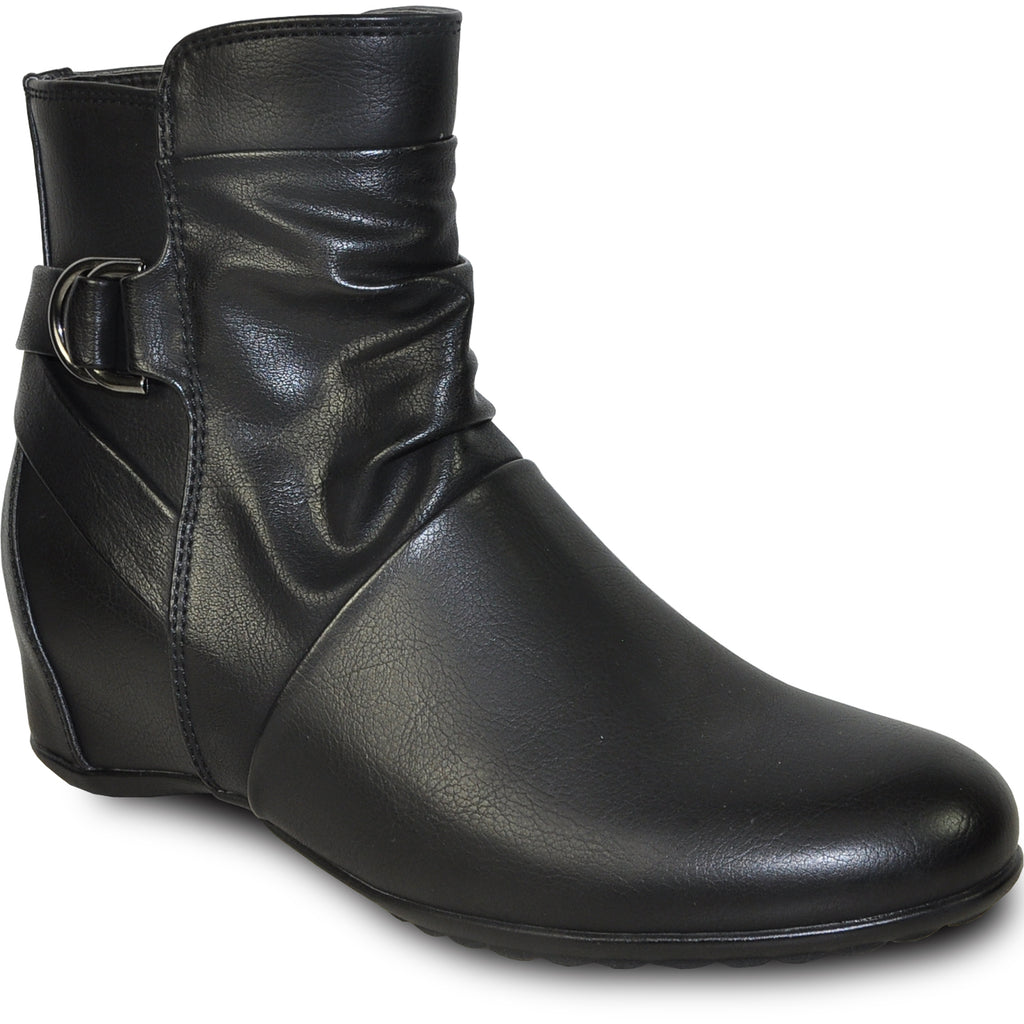 VANGELO Women Boot HF8416 Ankle Casual Boot Black