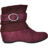 VANGELO Women Boot HF8419 Ankle Casual Boot Bordo Red