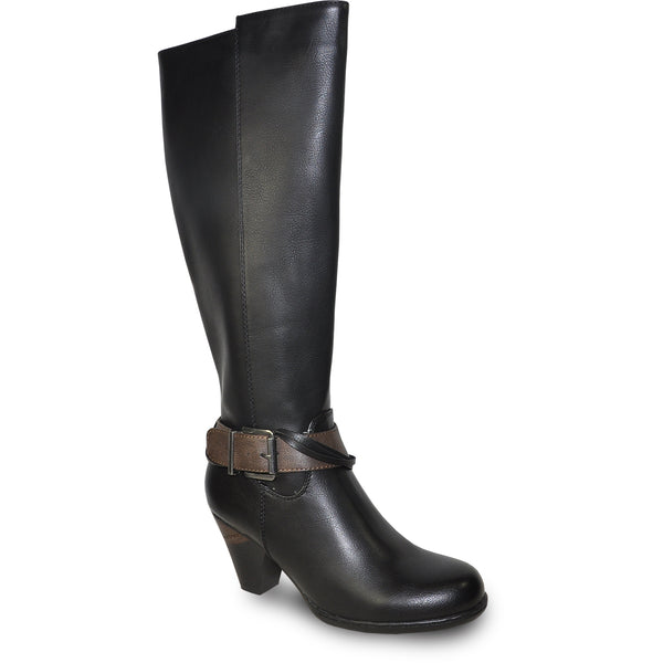 VANGELO Women Boot HF8420 Knee High Dress Boot Black