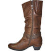 VANGELO Women Boot HF8421 Knee High Dress Boot Brown