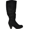 VANGELO Women Boot HF9426 Knee High Dress Boot Black Suede