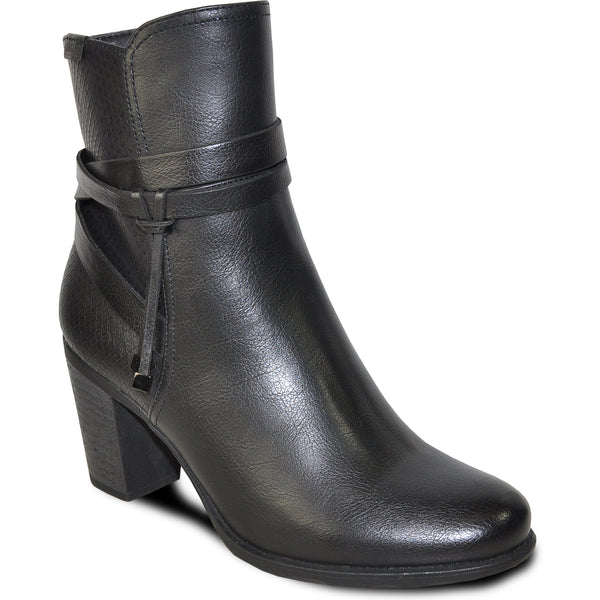 VANGELO Women Boot HF9433 Ankle Dress Boot Black