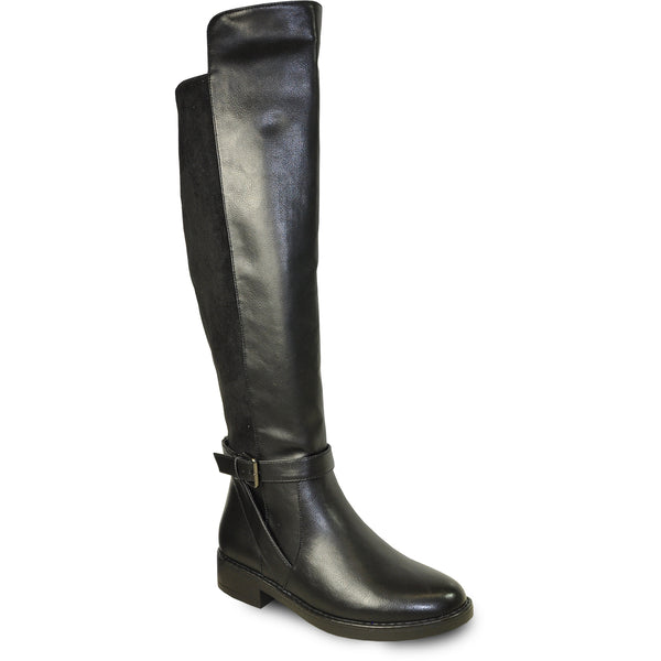 VANGELO Women Boot HF9443 Over-The-Knee Dress Boot Black