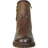 VANGELO Women Water Proof Boot HF9538 Ankle Winter Fur Casual Boot Brown