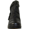 KOZI Women Boot JL7553 Ankle Winter Fur Casual Boot Black