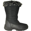 KOZI Women Boot JL9512 Ankle Winter Fur Casual Boot Black