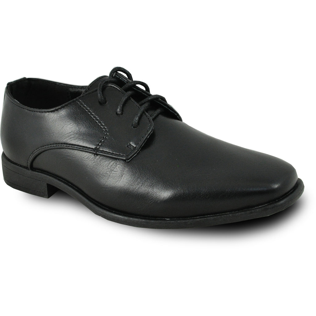 BRAVO Boy Dress Shoe KING-1KID Oxford Shoe Black