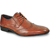 BRAVO Men Dress Shoe KING-2 Wingtip Oxford Shoe Brown