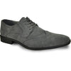 BRAVO Men Dress Shoe KING-3 Wingtip Oxford Shoe Grey