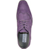 BRAVO Men Dress Shoe KING-3 Wingtip Oxford Shoe Purple