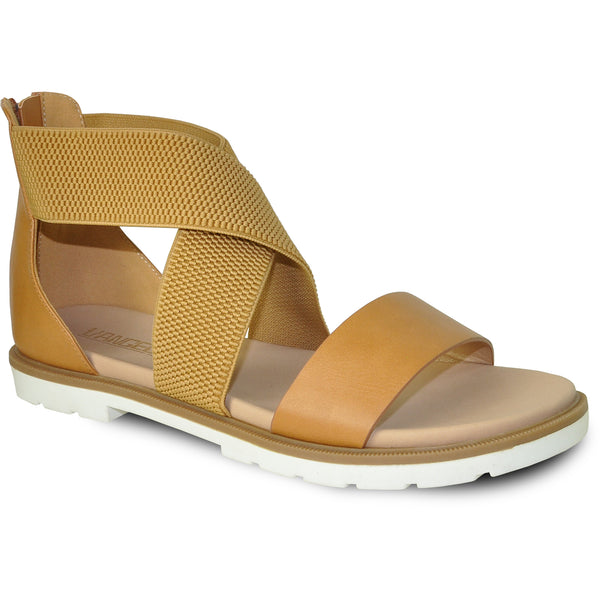 VANGELO Women Sandal LONDON Flat Sandal Tan