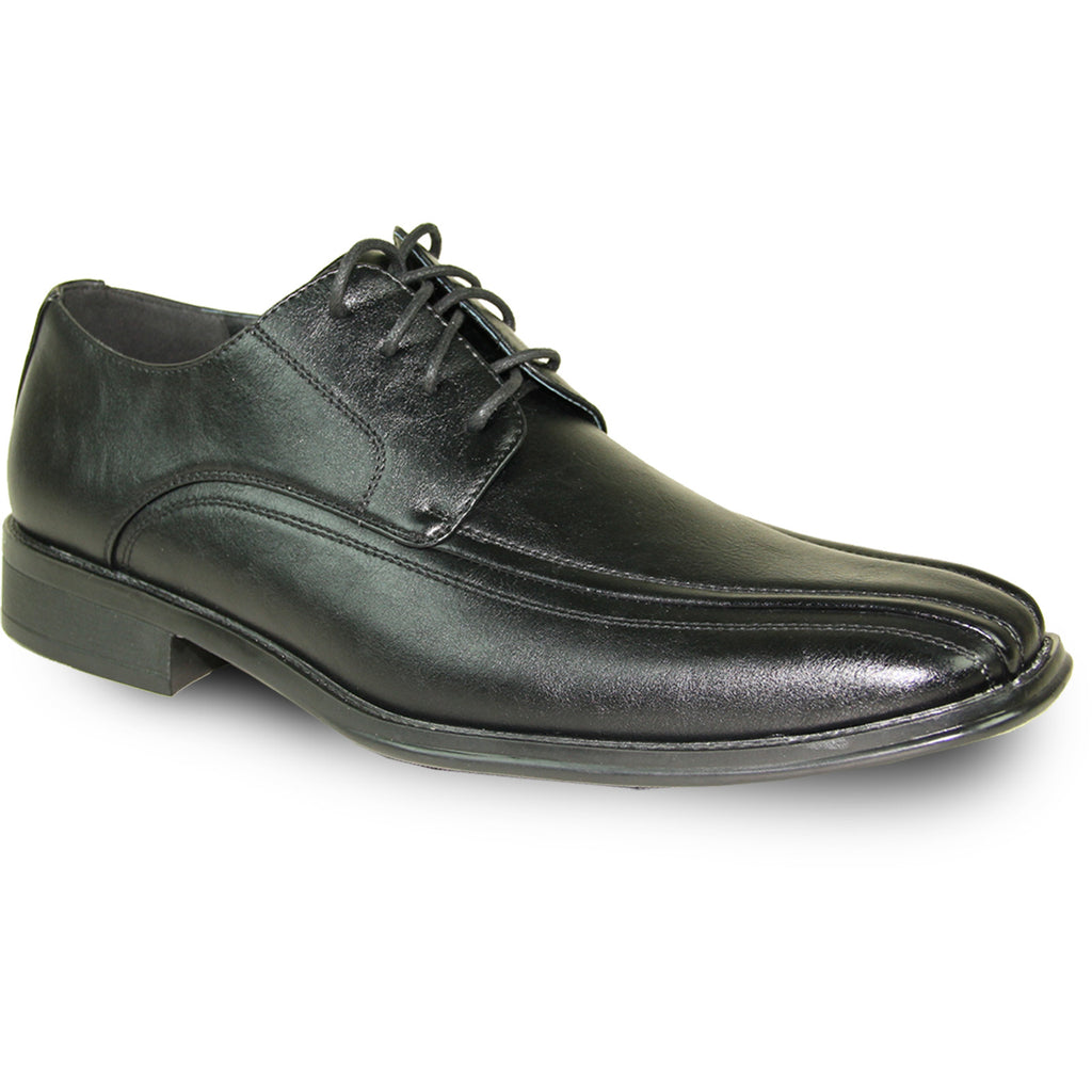 BRAVO Men Dress Shoe MILANO-3 Oxford Shoe Black