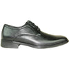 BRAVO Men Dress Shoe MILANO-4 Oxford Shoe Black