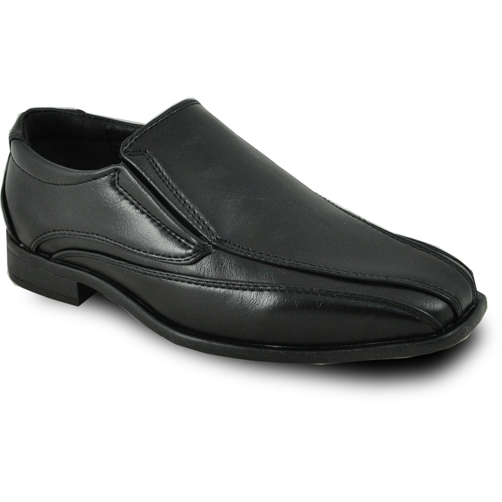 09a7e022dff7 BRAVO Boy Dress Shoe MILANO-7KID Loafer Shoe Black – VANGELO FOOTWEAR