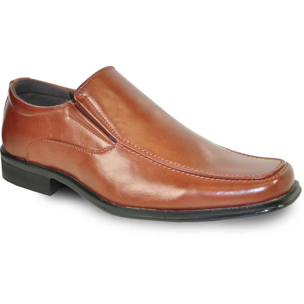 BRAVO Men Dress Shoe MONACO-2 Loafer Shoe Brown