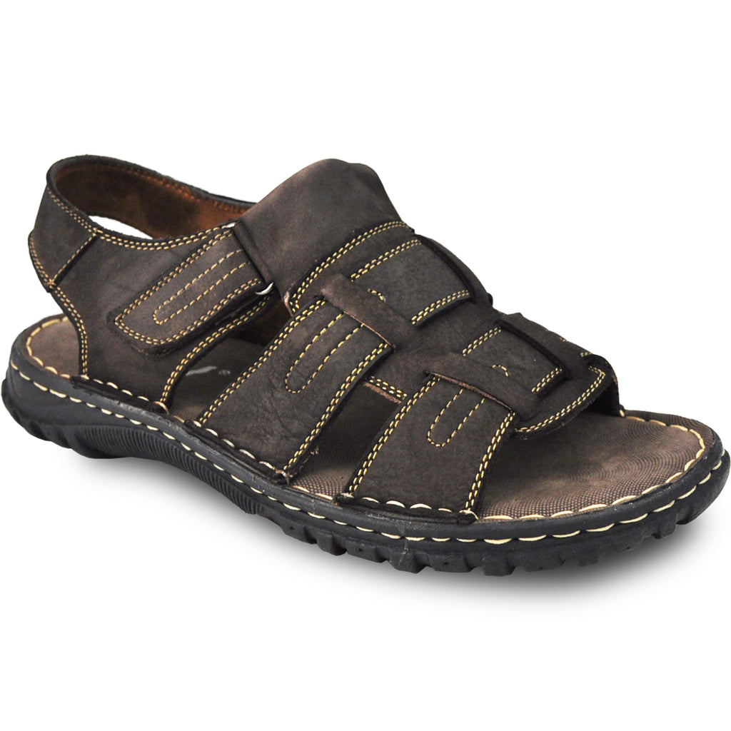 KOZI Men Leather Sandal NEW DIEGO-06 Brown