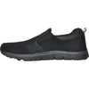 VANGELO Men Slip Resistant Shoe NICK-2 Black  - Wide Width Available