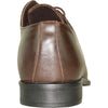 BRAVO Men Dress Shoe NEW KELLY-1 Oxford Shoe Brown Matte