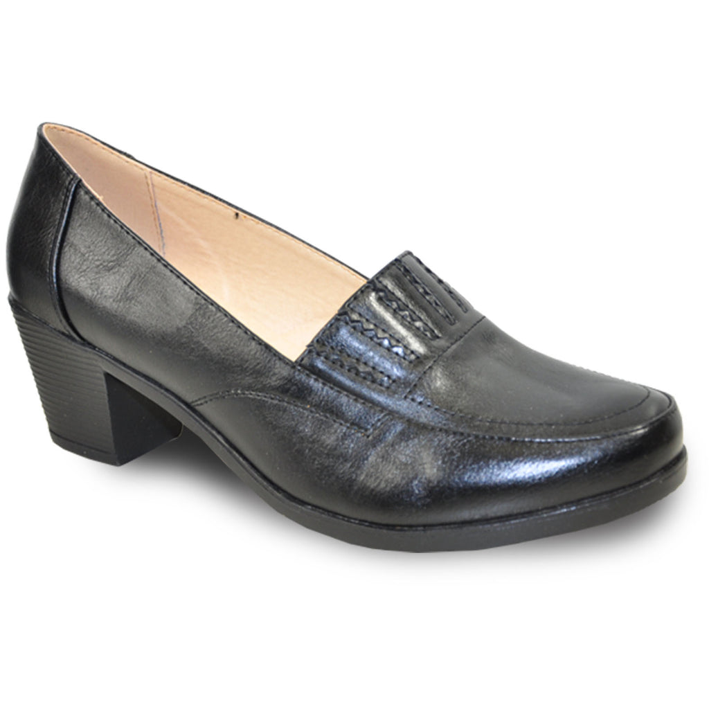 KOZI Women Dress Shoe OY5308 Heel Shoe Black