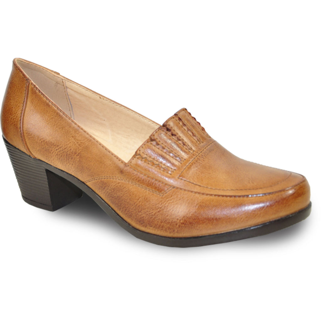 KOZI Women Dress Shoe OY5308 Heel Shoe Brown