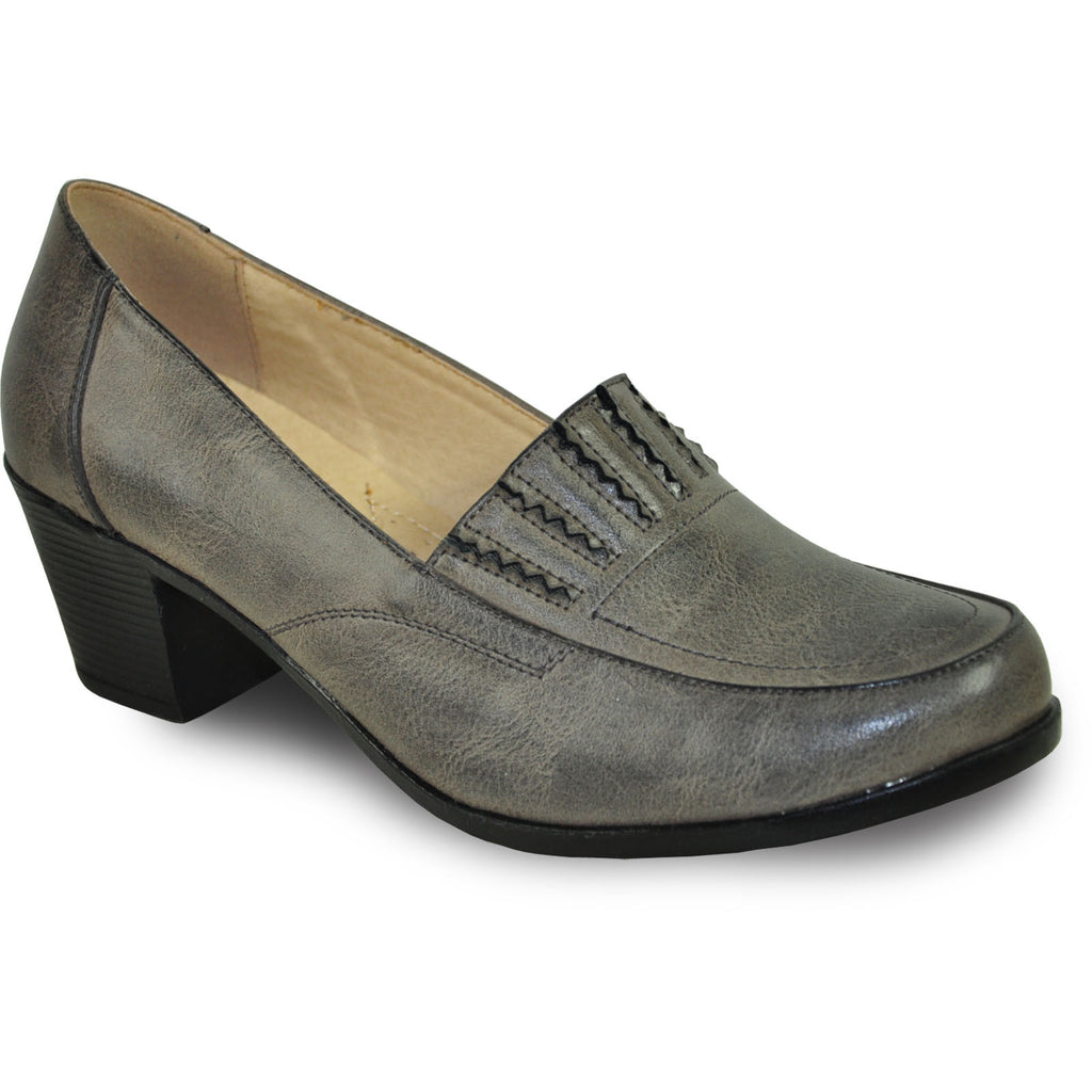 KOZI Women Dress Shoe OY5308 Heel Shoe Grey