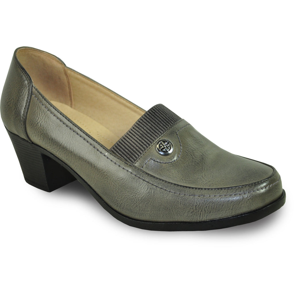 KOZI Women Dress Shoe OY6276 Heel Shoe Grey