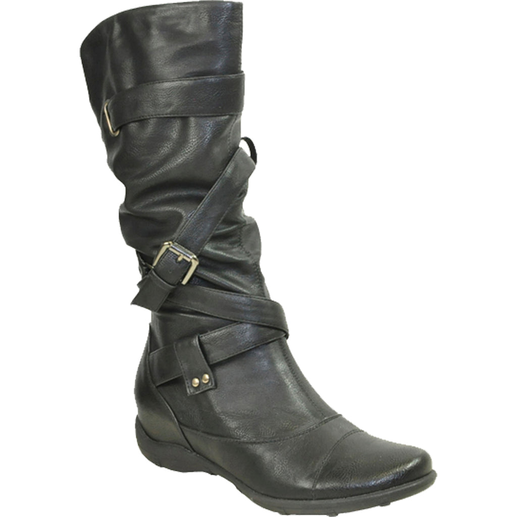 VANGELO Women Boot SD3405 Knee High Winter Fur Casual Boot Black