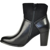 VANGELO Women Boot SD6404 Ankle Dress Boot Black