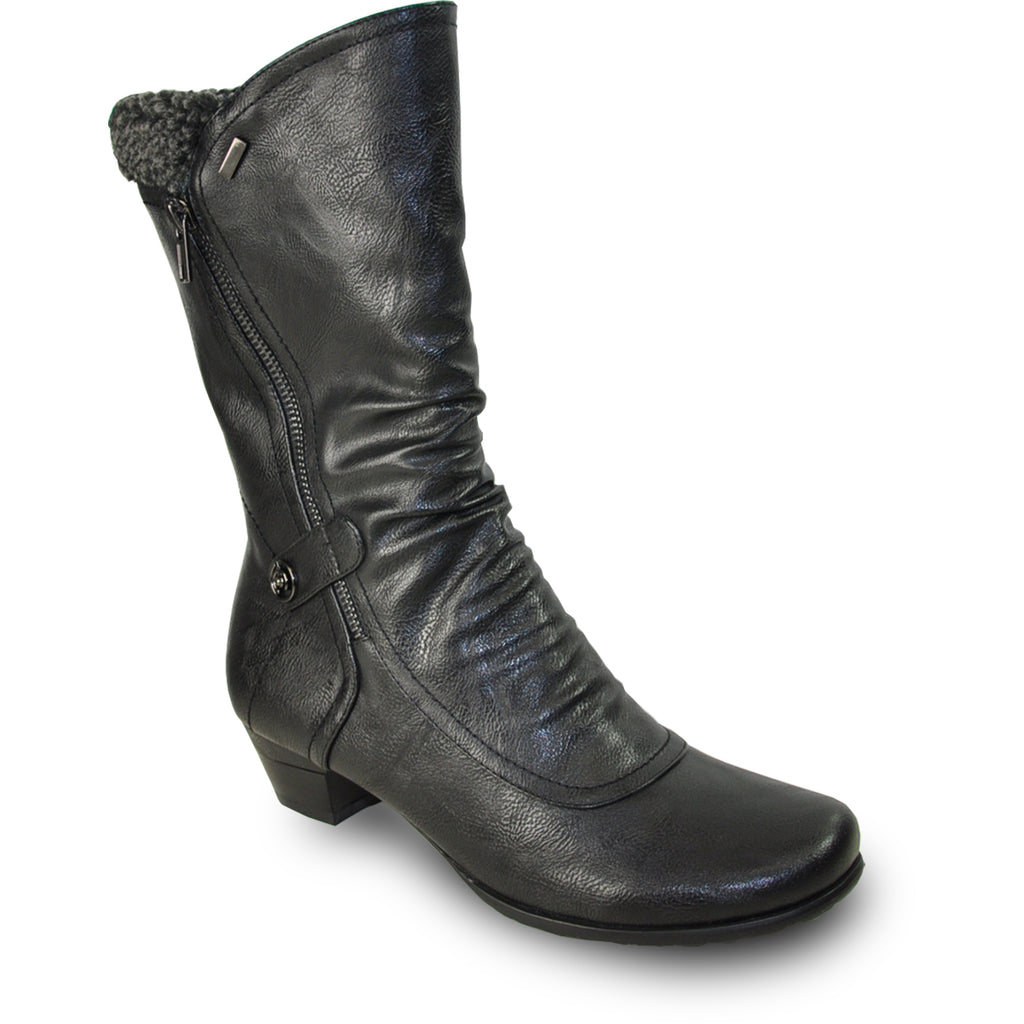 VANGELO Women Boot SD7405 Ankle Dress Boot Black