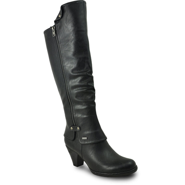 VANGELO Women Boot SD7408 Knee High Dress Boot Black