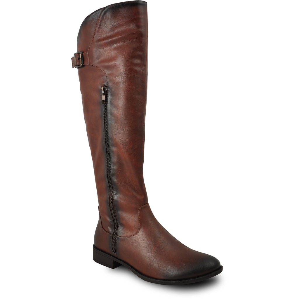 VANGELO Women Boot SD7409 Knee High Casual Boot Brown
